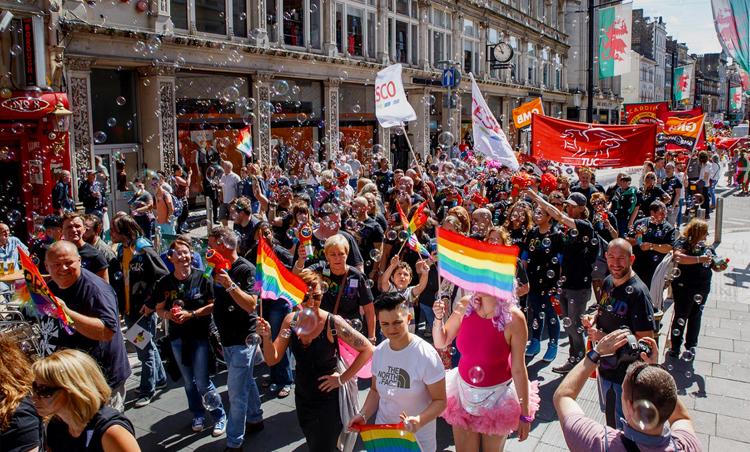 Pride Cymru parade cardiff