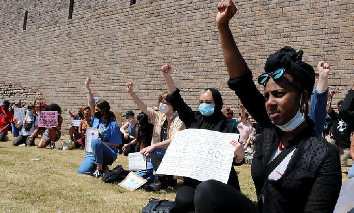 Black Lives Matter Protest Cardiff Castle